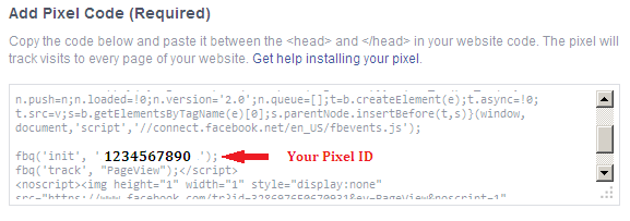 This is your Facebook Pixel ID
