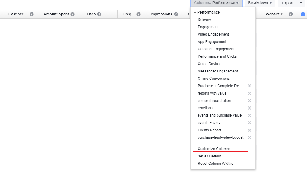 How to Manage Reports Inside Your Facebook Ads Manager