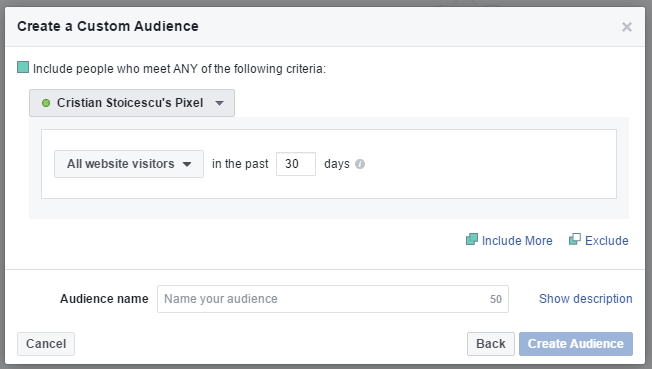 Facebook Custom Audiences from Your Pixel Activity