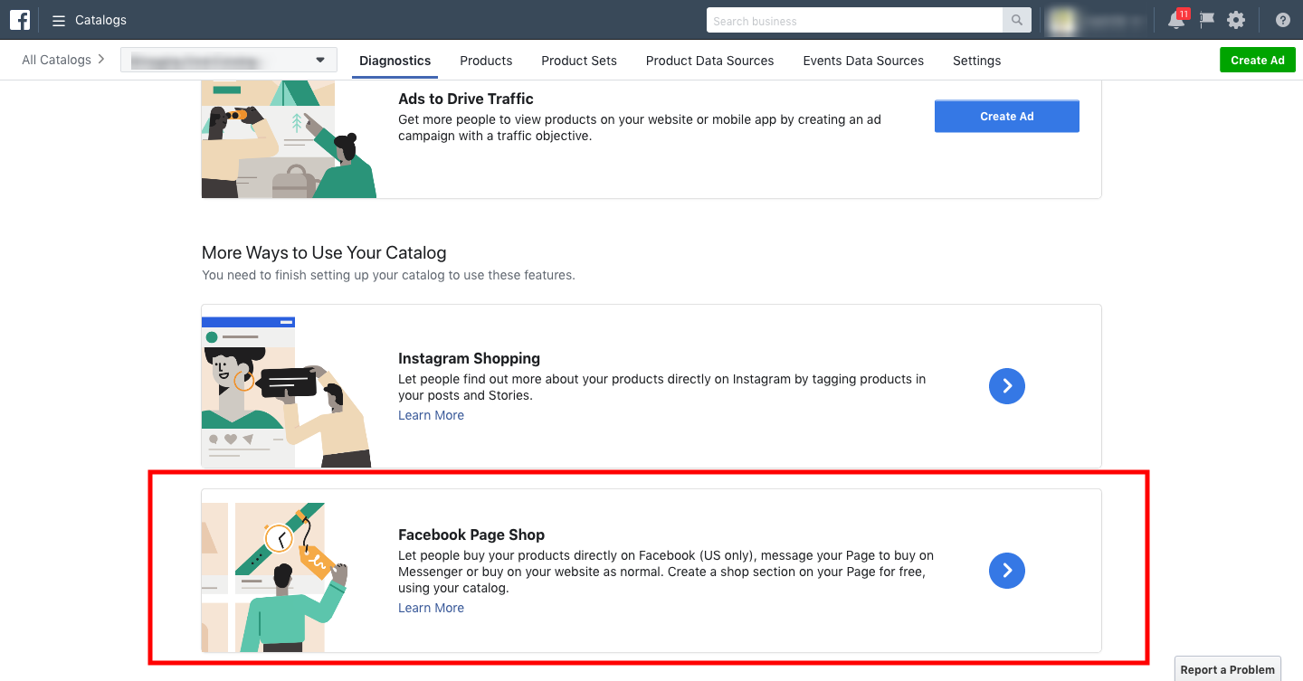How to create a Facebook Page Shop from your Product Catalog