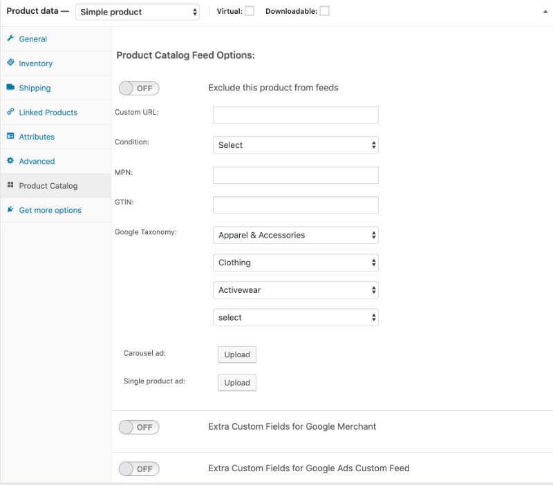 Facebook Product Catalog WooCommerce XML Feed - PLUGIN